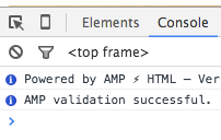 amp validation success!