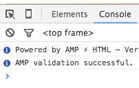 amp validation success!