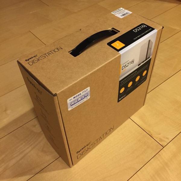 DS216jのパッケージ