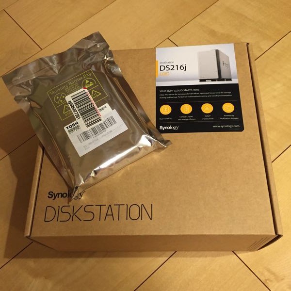 DS216jとHDD