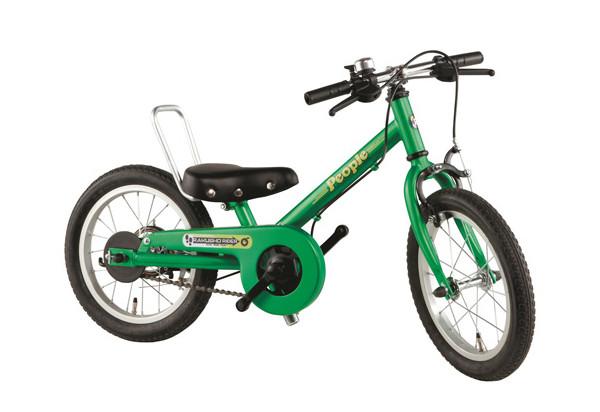 ペダルを外した自転車
